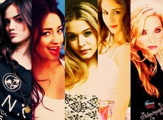 Aria Montgomery. Emily Fields.  Alison DiLaurentis. Spencer Hastings.  Hanna Marin.    Running Rosewood since 2008.