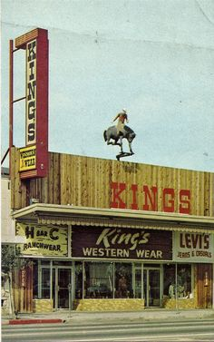 King's Western Wear in Van Nuys Postcard