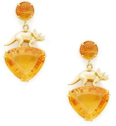 A whimsical spin on fine jewelry, these artful earrings are detailed with stunning citrine stones—at the post and artful. Citrine Earrings, Drop Earrings, Yellow Jewelry, Mellow Yellow, Graphic Prints, Fashion Boutique, Fancy Dress, Color Pop, Fine Jewelry