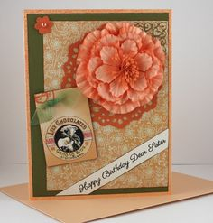Birthday Card for Sister  Handmade Card  Peach by CardsbyGayelynn, $7.00