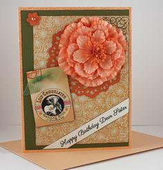 Birthday Card for Sister  Handmade Card  Peach by CardsbyGayelynn, $7.00
