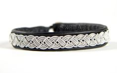 SwedArt Lapland Sami Black Reindeer Leather Bracelet by SwedArt