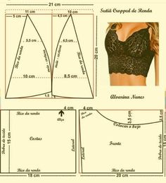 Wonderful Photo of Crop Top Sewing Pattern Underwear Pattern, Lingerie Patterns, Sewing Lingerie, Dress Sewing Patterns, Clothing Patterns, Bralette Pattern, Bra Pattern, Fashion Sewing, Diy Fashion