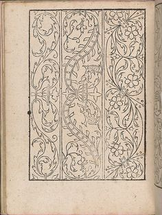 New Modelbüch allen Nägerin u. Sydenstickern (Page 19v).  Hans Hoffmann.  1556.
