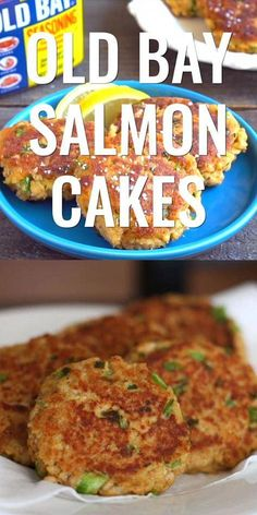 Old Bay Salmon Cakes Learn how to make classic salmon patties. Can be fried or baked. This salmon recipe is great for healthy lunch or dinner ideas as well as meal prep. The post Old Bay Salmon Cakes appeared first on Rezepte. Salmon Dishes, Fish Dishes, Seafood Dishes, Main Dishes, Crab Cake Recipes, Baked Salmon Recipes, Recipes With Canned Salmon, Leftover Salmon Recipes, Fried Catfish Recipes