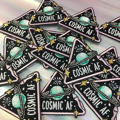Cosmic AF Patch, Iron On, Patches for Jackets, Mystical Eye Triangle Sepent Space Planet - Space Babe - Embroidered Applique, Black, Lilac, Wildflower + Co. DIY ………………………………….………………………………….…………………….. Cosmic AF. Weve loaded lots of mystical symbols into this little patch - eye