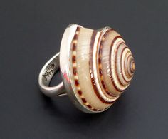 Sterling Silver Shell Ring  Handmade Silver by fishsilver on Etsy, $55.00