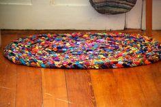 rugs made from socks   Winters in Wonderland: Recycling Socks
