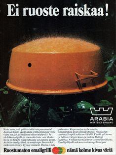 Arabian emaligrilli - Kodin kuvalehti 1973