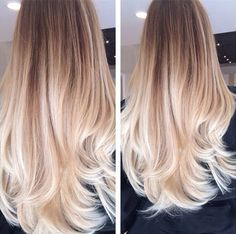 Golden brown ombre hair to blonde, nice long balayage hairtyle 2015