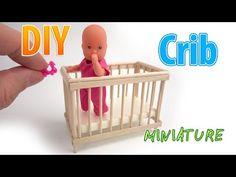 DIY cuna realista en miniatura | DollHouse | ¡No hay arcilla de polímero! - YouTube
