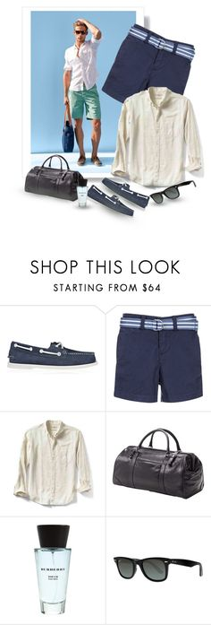 """..............."" by svetlanachanturiya ❤ liked on Polyvore featuring Sperry, Ralph Lauren, Banana Republic, Clava, Burberry, Ray-Ban, men's fashion and menswear"