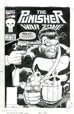Cover to Punisher War Zone #7 by John Romita Jr. and Klaus Janson