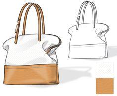 Handbag Illustration with Flats by Eugene Czarnecki at Coroflot.com