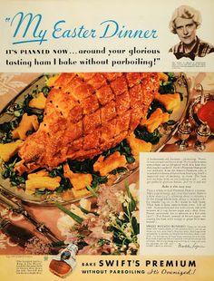 """1935 Swifts Premium Ham """"No Parboiling"""""""