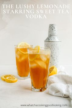 This Lushy Lemonade Cocktail is an amazing 2 ingredient drink perfect for the summer, spring, quarantine. Firefly Sweet Tea vodka is dangerously delicious and mixes amazingly with lemonade! Iced Tea Vodka, Sweet Tea Vodka, Iced Tea Cocktails, Iced Tea Lemonade, Vodka Lemonade, Lemonade Cocktail, Spring Cocktails, Vodka Drinks, Beverages