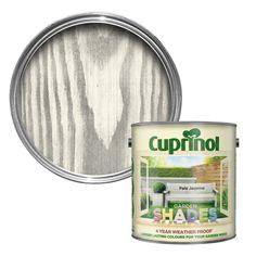 Summer house : Cuprinol Garden Shades Pale Jasmine Wood Paint 2.5L | Departments | DIY at B&Q