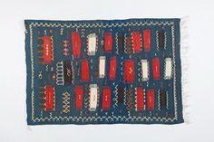 Blue Geometric Moroccan Rug