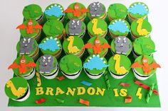 Celebrate with Cake!: Dinosaur Cupcakes