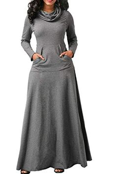 Wipalo Women Warm Dress With Pocket Casual Solid Long Sleeve Vintage Maxi Dress Robe Bow Neck Long Elegant Dress Vestidos *Material:Cotton Blend *Type:Dress * dress *Net *Style:Casual dress *Transparency:Non-transparent *Thickness:Regular Size Chart Ou Modest Fashion, Fashion Outfits, Womens Fashion, Fashion Clothes, Style Fashion, Fashion Top, Cheap Fashion, Skirt Fashion, Elegant Maxi Dress