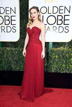 Actress Brie Larson attends the 74th Annual Golden Globe Awards.
