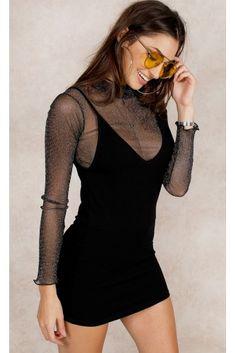 Vestido   Viscose   Preto
