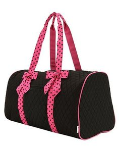 1141bc9ba6 black and fuchsia quilted large duffle Pink Duffle Bag