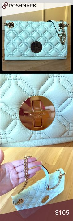 Brand New!! Kate Spade Cynthia Two-Way Bag Brand New!! Kate Spade Two-Way Bag Original $ 279 Now $100 Brand New With Tag& Care Card& Dust Bag Style#: WKRU2650 Color:Baby Blue kate spade Bags Crossbody Bags