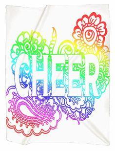 Cheer  Doodle Jersey Blanket