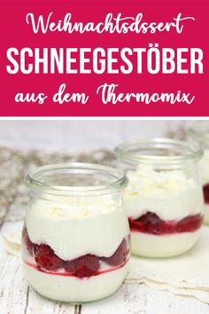 ♥ Snow flurry ♥ A great Christmas dessert from the Thermomix. - This desser. - ♥ Snow flurry ♥ A great Christmas dessert from the Thermomix. – This dessert is made quickly -