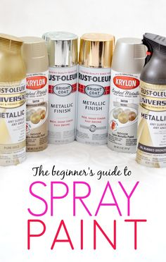 10 things you should know about spray paint! This is SO good!