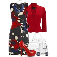 A fashion look from March 2013 featuring Diane Von Furstenberg dresses, Hobbs Invitation blazers and Sergio Rossi pumps. Browse and shop related looks.