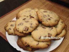 Быстрое домашнее печенье с шоколадными кусочками