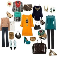 mustard, deep turquoise, and regular red (but more on the warm side (red orange). Jewel tone Primary colors, wonderful.