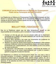 #educacion #alicante #NoalaLOMCE