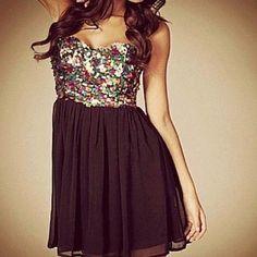 Sparkles and black dress