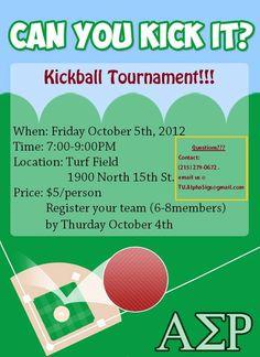 How To Set Up A Kickball Tournament