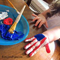 #DIY CRAFTS Patriotic Hand Print