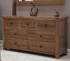 Tilson-solid-rustic-oak-bedroom-furniture-large-wide-chest-of-drawers