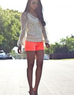 Looks with bright shorts