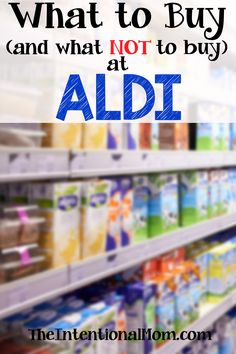 Aldi is a great place to shop, but not everything there is a frugal buy. Here is a list of the things that you will want to buy and what to avoid at Aldi