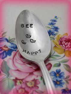 Hand Stamped SpoonStamped Vintage Silverware by TheSilverwearShop, $12.00