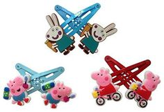 Peppa Pig Hair Clips 6 Pcs Set 2 -- Read more reviews of the product by visiting the link on the image.