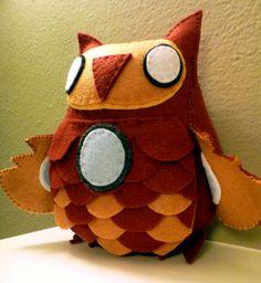Avengers Iron Man Inspired Owl Plush