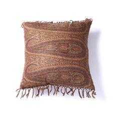 Tear Drop Paisley Wool Throw Pillow