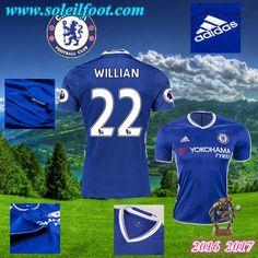 Maillot Du FC Chelsea (WILLIAN 22) Domicile 2016-2017 Pas Cheres