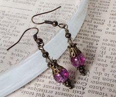 Victorian Inspired Purple Earrings Vintage Style by LeParisMetro, $14.00  #Etsy  #EtsyRMP