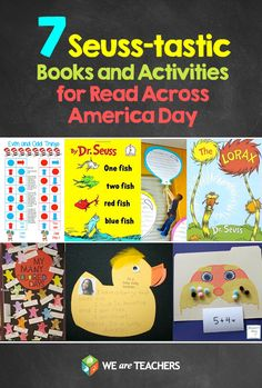 7 Dr. Seuss Books lesson ideas for read Across America Week.