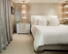 curtain & wall color combi  Contemporary Bedroom Design, Pictures, Remodel, Decor and Ideas - page 3