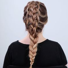 Looped French Braid year two French Braided Hairstyles, Pretty Hairstyles, Easy Hairstyles, Girl Hairstyles, Hair Style Videos Youtube, Hair Tutorial Videos, Prom Hair Tutorial, Braid Tutorials, How To French Braid